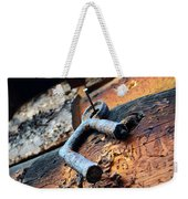 Metal Piece Weekender Tote Bag