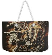 Metallic Birdlife Abstract Weekender Tote Bag