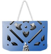 Metallic Blue Weekender Tote Bag