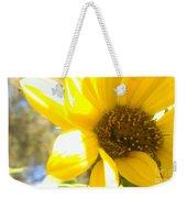 Metallic Green Bee In A Sunflower Weekender Tote Bag