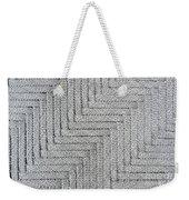 Metallic Grey Rope Weaved Pattern Weekender Tote Bag