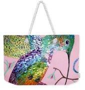 Metallic Hummingbird  Weekender Tote Bag