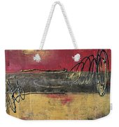 Metallic Square Series I - Red And Gold Urban Abstract Painting Weekender Tote Bag