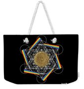 Metatron's Rainbow Healing Vortex Weekender Tote Bag