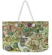 Methods Of Sieging And Attacking Weekender Tote Bag by Theodore de Bry