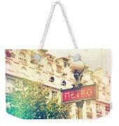 Metro Sign Paris Shabby Chic Weekender Tote Bag