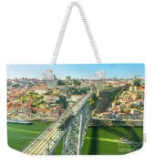 Metro Train Over Porto Bridge Weekender Tote Bag