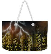 Metropolis At Stormy Night Weekender Tote Bag