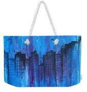 Metropolis In Blue Weekender Tote Bag