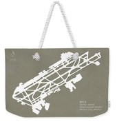 Mex Benito Juarez International Airport Silhouette In Gray Weekender Tote Bag