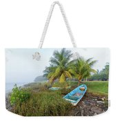 Mexican Boat In The Fog Weekender Tote Bag