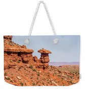 Mexican Hat Rock Monument Landscape On Sunny Day Weekender Tote Bag