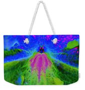 Mexican Petunia Abstract Weekender Tote Bag
