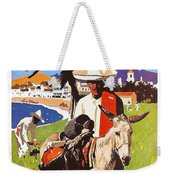 Mexico, Mexican Posing With Donkey Weekender Tote Bag