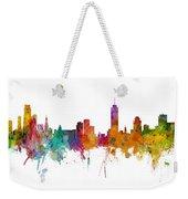 Miami And Nashville Skylines Mashup Weekender Tote Bag