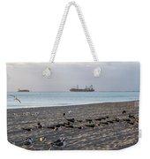 Miami Beach Flock Of Birds Sunrise Weekender Tote Bag