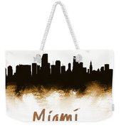 Miami Fla 2 Skyline Weekender Tote Bag