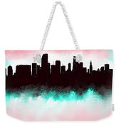 Miami Fla Skyline Weekender Tote Bag