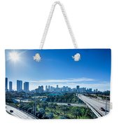 Miami Florida City Skyline And Streets Weekender Tote Bag