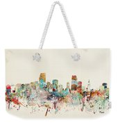 Miami Florida City Skyline Weekender Tote Bag
