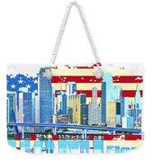 Miami Florida City Skyline Weekender Tote Bag
