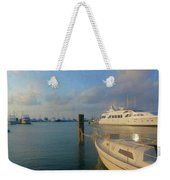 Miami Harbor Weekender Tote Bag