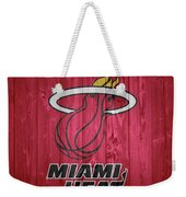 Miami Heat Barn Door Weekender Tote Bag