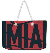 Miami Heat City Poster Art Weekender Tote Bag