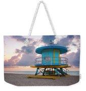 Miami Lifeguard Cabin At Sunrise Weekender Tote Bag