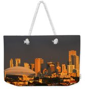 Miami Skyline At Sunset Weekender Tote Bag