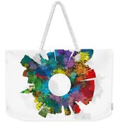 Miami Small World Cityscape Skyline Abstract Weekender Tote Bag
