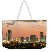 Miami Sunset Skyline Weekender Tote Bag