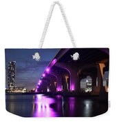 Miami Under The 395 At Night Weekender Tote Bag