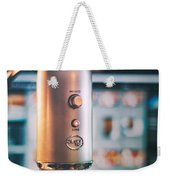 Mic Check 1 2 3 Weekender Tote Bag by Scott Norris