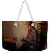 Michael Ancher - Skagen Girl, Maren Sofie, Knitting. Weekender Tote Bag