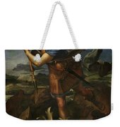 Michael Defeats Satan  Weekender Tote Bag