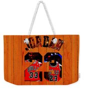 Michael Jordan Wood Art 1b Weekender Tote Bag
