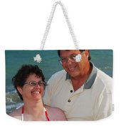 Michael  Peychich And His Sweetheart Weekender Tote Bag by Michael Peychich