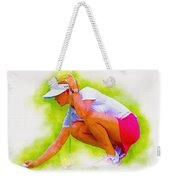 Michelle Wie Of Usa Lined Her Ball Weekender Tote Bag