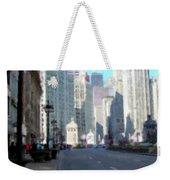 Michigan Ave Tall Weekender Tote Bag