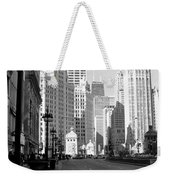 Michigan Ave Tall B-w Weekender Tote Bag