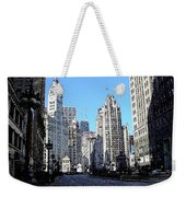 Michigan Ave Wide Weekender Tote Bag