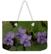 Michigan Purple Spring Flowers Weekender Tote Bag