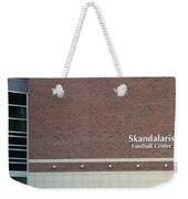Michigan State University Skandalaris Football Center Signage Weekender Tote Bag