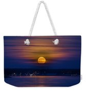 Michigan Super Moon Over Muskegon Lake Weekender Tote Bag