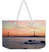 Michigan's Mackinac Bridge Weekender Tote Bag