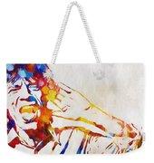 Mick Jagger Abstract Weekender Tote Bag