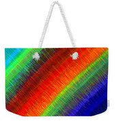 Micro Linear Rainbow Weekender Tote Bag