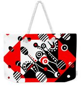 Microgravity - Red And Black Weekender Tote Bag