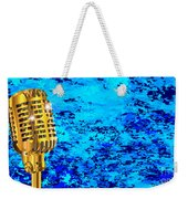 Microphone On Blues Fire Weekender Tote Bag
